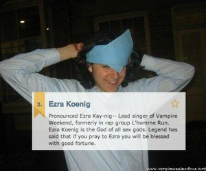 Ezra Koenig, funny, and vampire weekend image