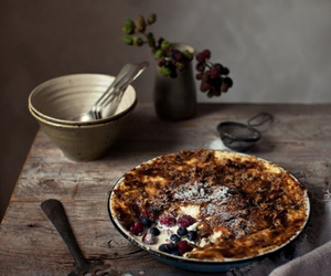 food, pie, and rustic image