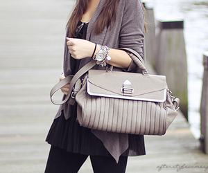 bags, beige, and black image