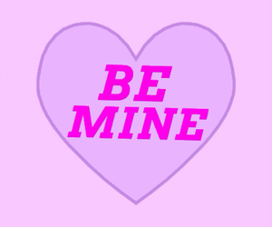 heart, pink, and be mine image