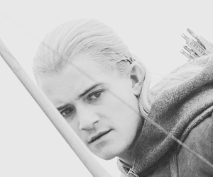 black & white, Legolas, and lord of the rings image