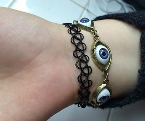 bracelet, grunge, and eye image