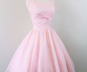 1950's, dress, and pink image