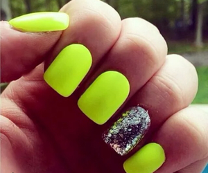 nails, fashion, and neon image