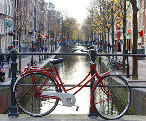 amsterdam, bicycle, and water image