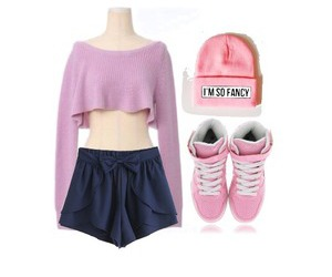 fancy, outfit, and pink image