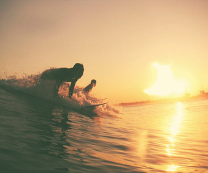 surf, sun, and sunset image