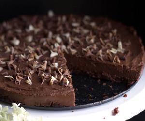 cake, chocolate, and tart image