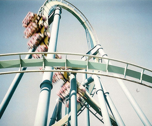 vintage, fun, and rollercoaster image