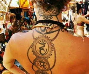 hippie and tattoo image