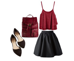 backpack, skirts, and skater skirt image