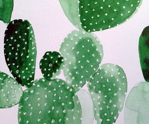 art, cacti, and painting image