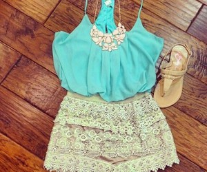 jewelry, short blouse, and nice lace image