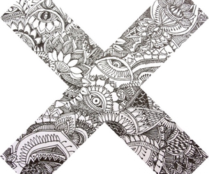 x, drawing, and art image