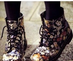 boots, cute, and flowery image