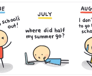 August, summer, and funny image