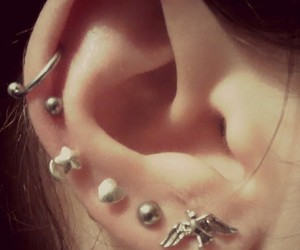 ear, me, and Piercings image