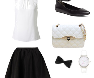 black and white, classy, and fashion image