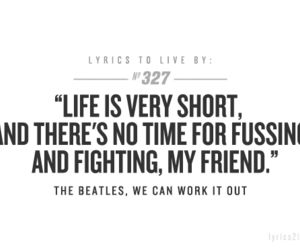 quote, the beatles, and Lyrics image