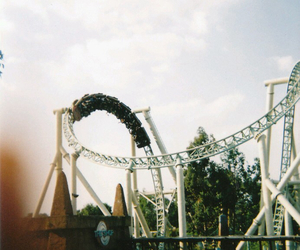 vintage, fun, and Roller Coaster image