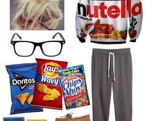 chips, clothes, and Polyvore image