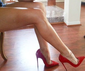 heels, red, and pointy image