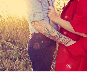 couple, Relationship, and tattoo image