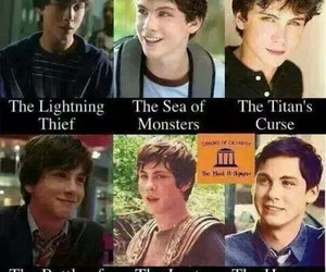 percy jackson, logan lerman, and books image