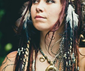 dreads and woman image