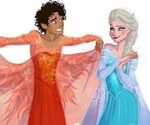 elsa, leo valdez, and frozen image