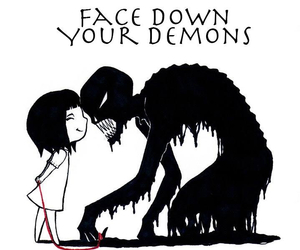demon and face image
