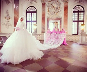 bride, fashion, and pink image