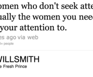 will smith, women, and attention image