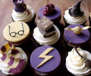 harry potter, delicious, and cupcakes image