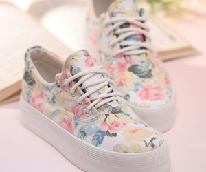 beautiful, floral, and shoes image
