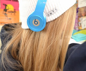 beats, blue, and tumblr image