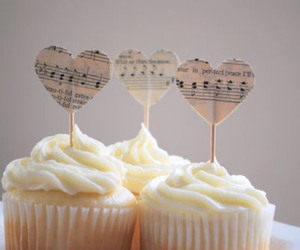 cupcake, food, and music image