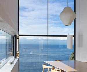 sea, house, and interior image