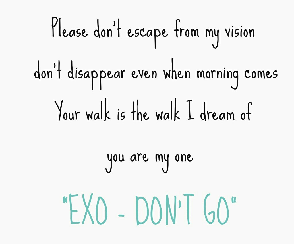 exo dont go uploaded by kpop fans ♡ on we heart it