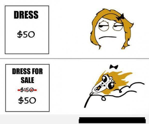 funny, dress, and sale image