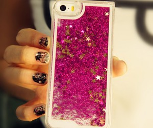 glitter, iphone, and stars image