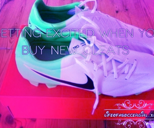 cleats, happiness, and shoes image