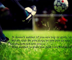 football, soccer, and love image