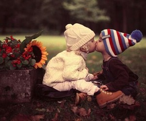 baby love, cute, and kiss image