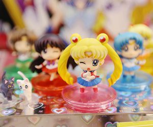 merchandise, sailor moon, and toy art image