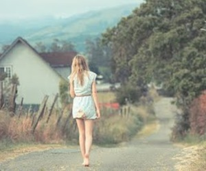 girl, alone, and road image