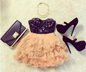 dress, gorgeous, and heels image