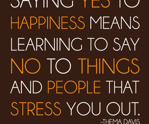 happiness, quote, and stress image
