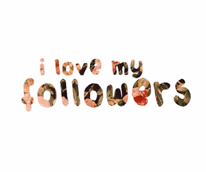 followers, love, and flowers image