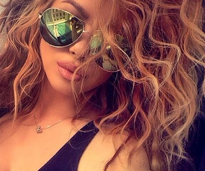 curly, fashion, and hot girl image